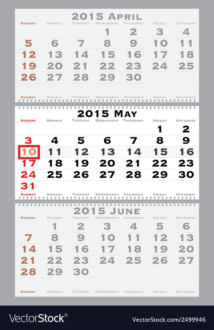 2015 may with red dating mark vector | Price: 1 Credit (USD $1)