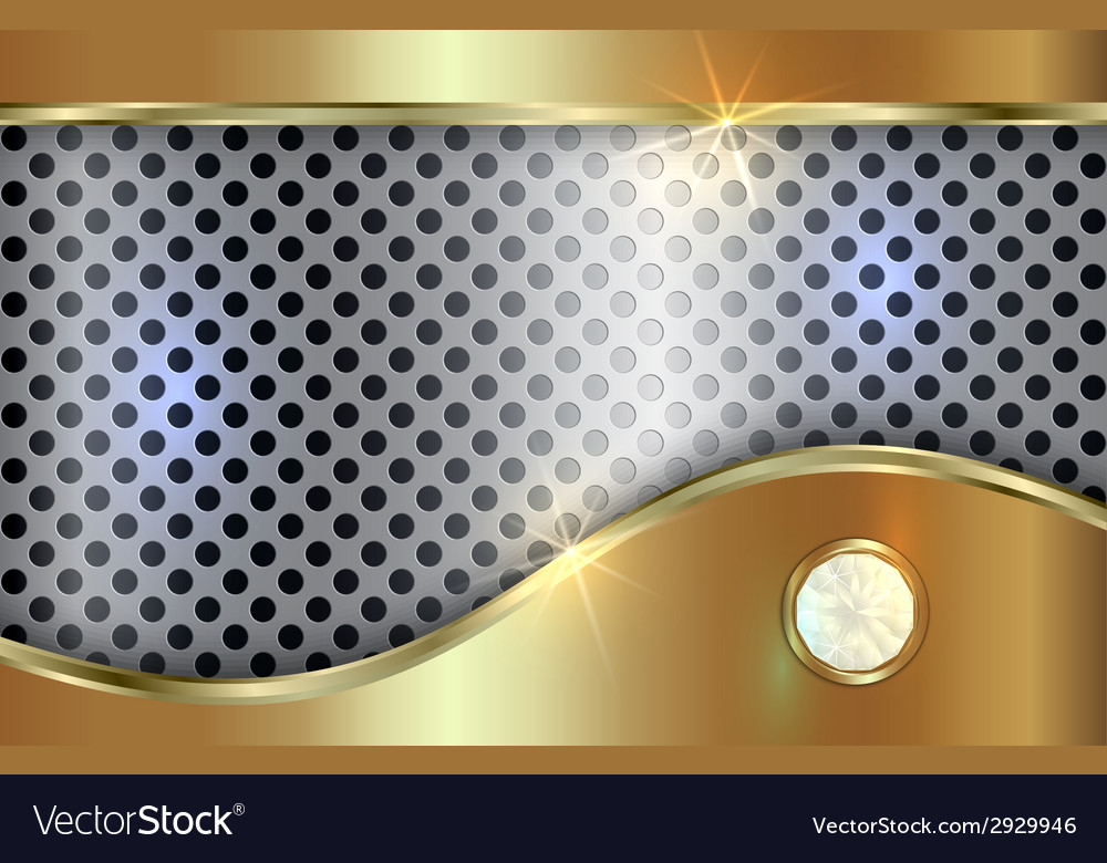 Abstract golden and silver background with curve vector | Price: 1 Credit (USD $1)