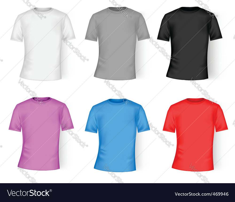 Color and white t-shirt design vector | Price: 1 Credit (USD $1)