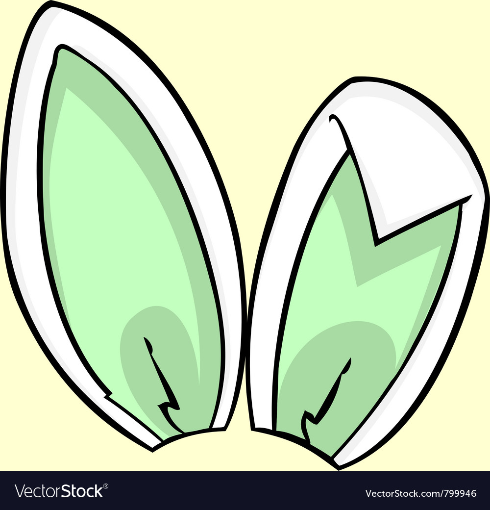Green bunny ears vector | Price: 1 Credit (USD $1)
