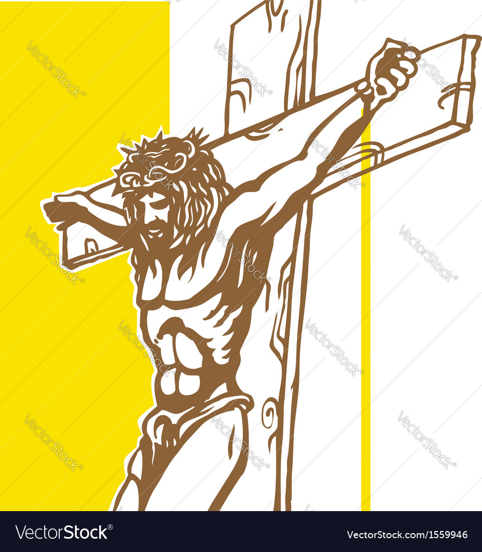 Jesus vatican flagconvertito vector | Price: 1 Credit (USD $1)