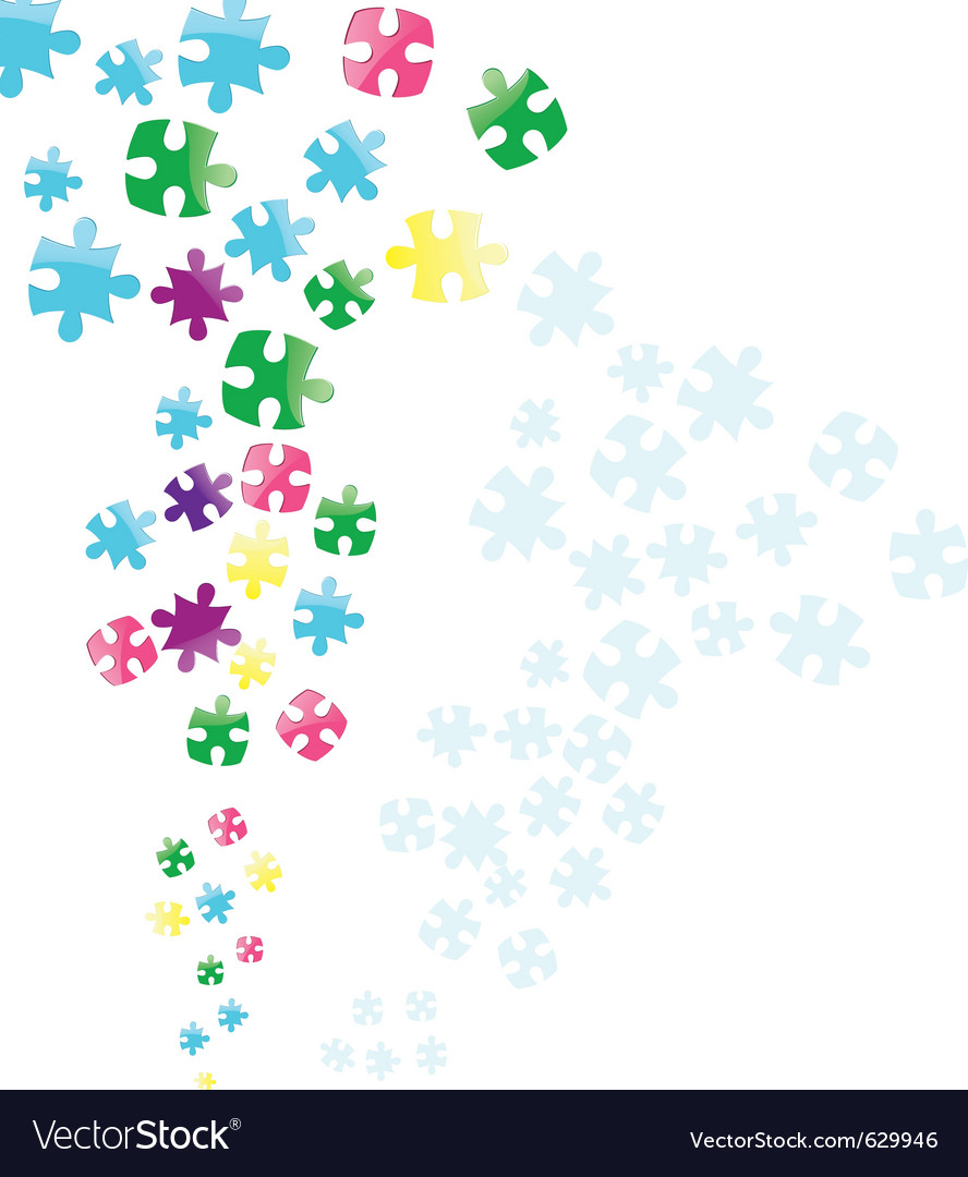 Jigsaw puzzle connection vector | Price: 1 Credit (USD $1)