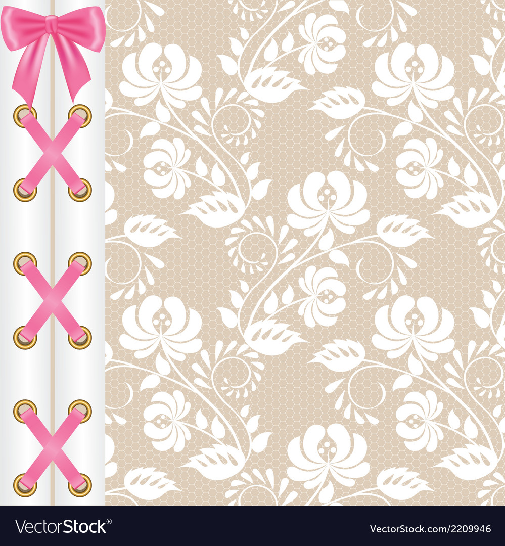 Lace corset vector | Price: 1 Credit (USD $1)