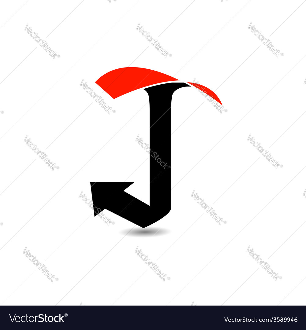 Logo abstract letter j vector | Price: 1 Credit (USD $1)