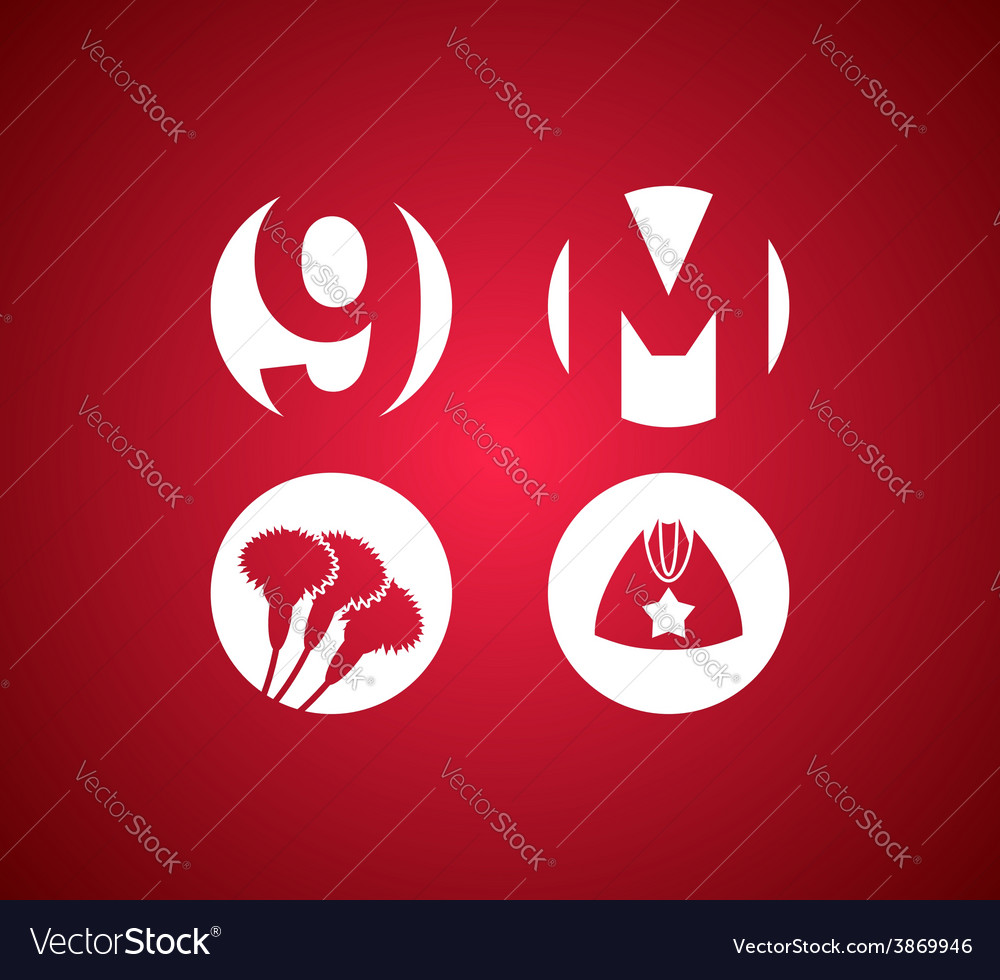 May 9 victory day icon vector   Price: 1 Credit (USD $1)