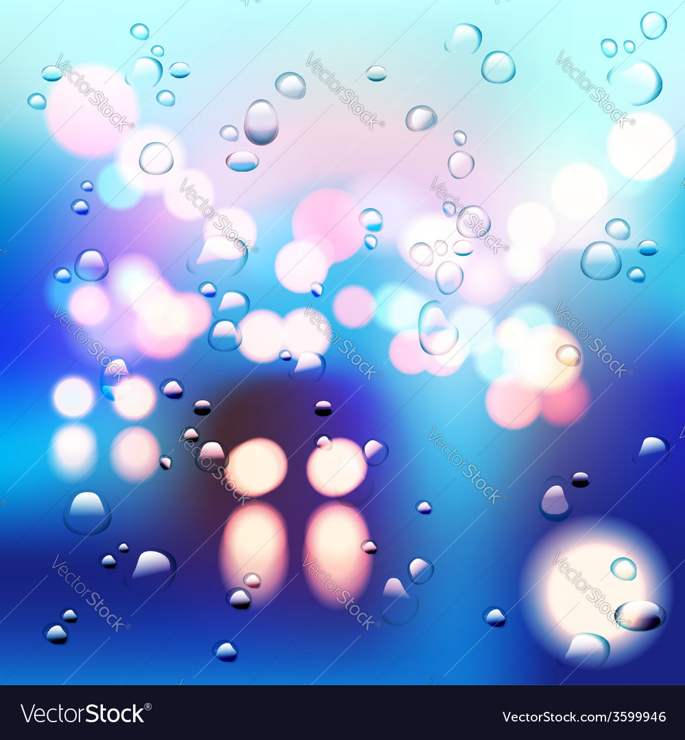 Morning rainy street vector | Price: 1 Credit (USD $1)