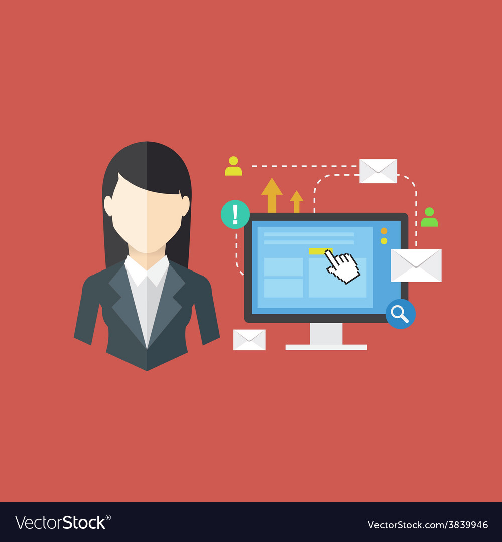 Office worker concept vector | Price: 1 Credit (USD $1)