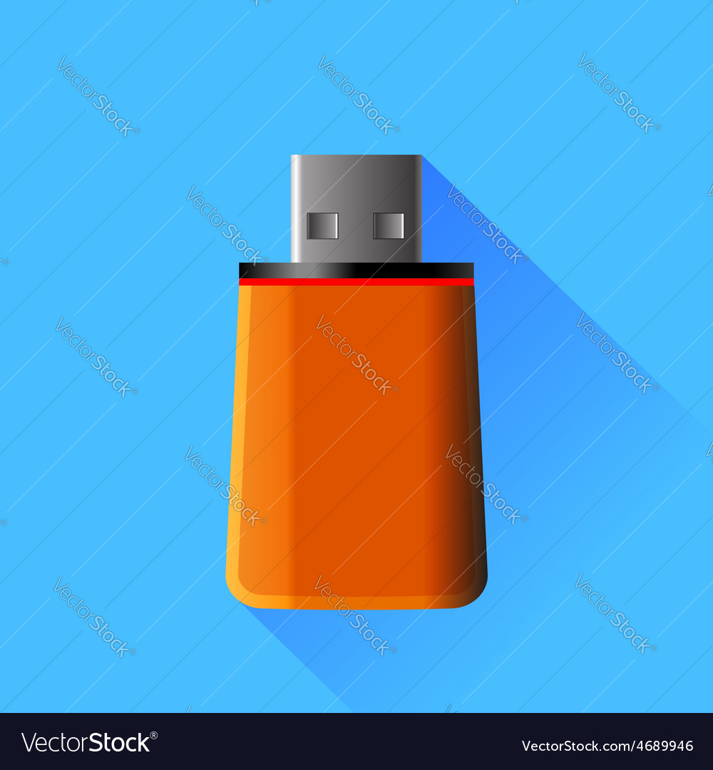 Orange memory stick vector | Price: 1 Credit (USD $1)