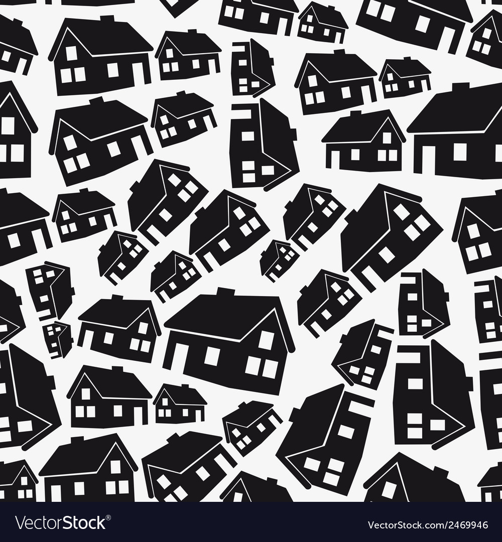 Real estate simple house seamless pattern eps10 vector | Price: 1 Credit (USD $1)