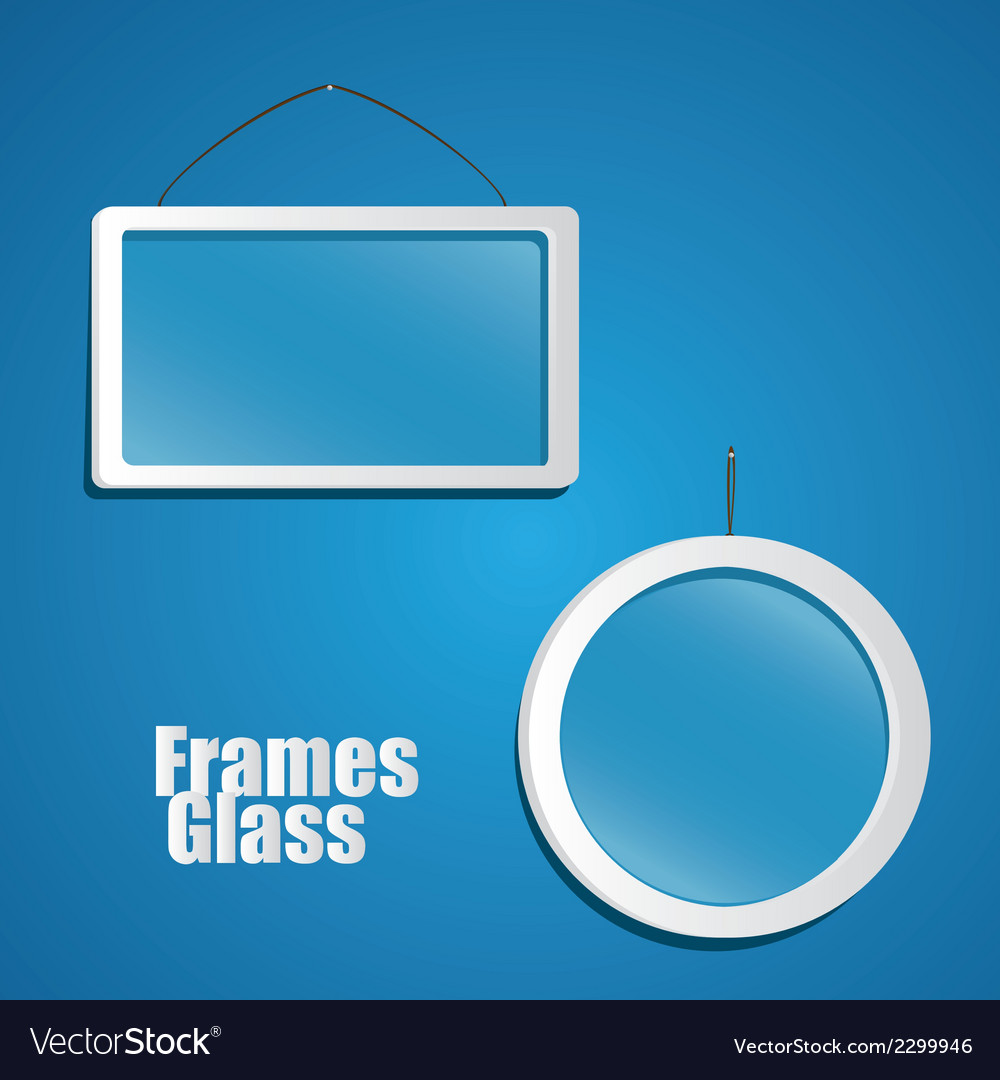 Set of glass frame suspended from a rope isolated vector | Price: 1 Credit (USD $1)
