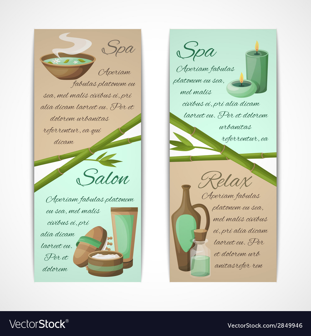 Spa banners vertical vector | Price: 1 Credit (USD $1)