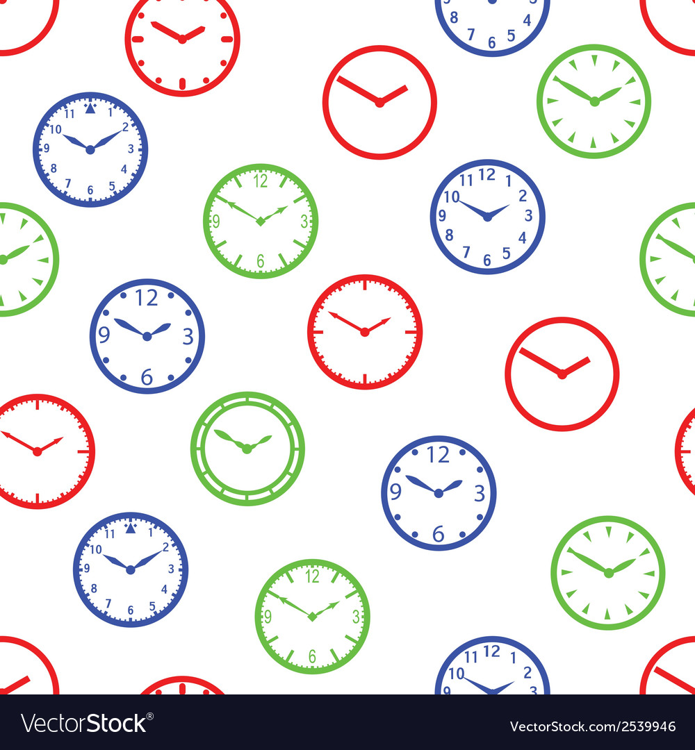 Watch dial simple color seamless pattern eps10 vector | Price: 1 Credit (USD $1)