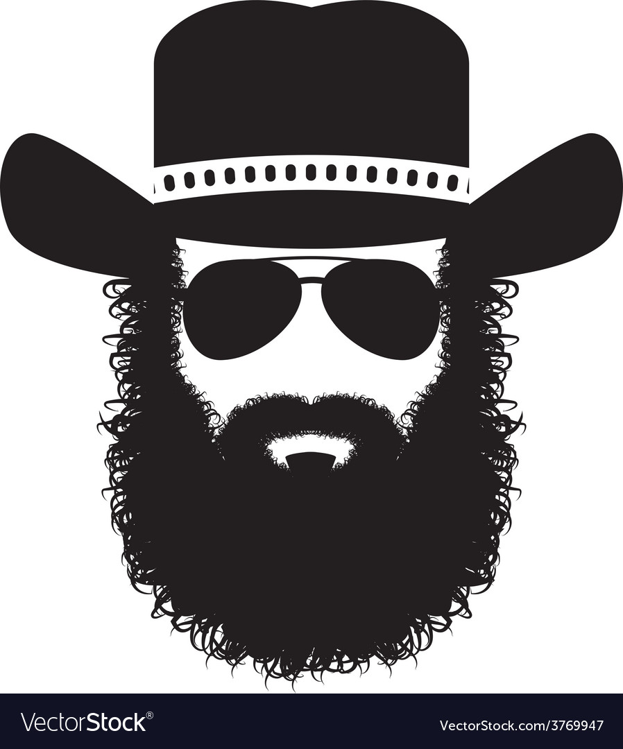 Bearded man silhouette vector | Price: 1 Credit (USD $1)