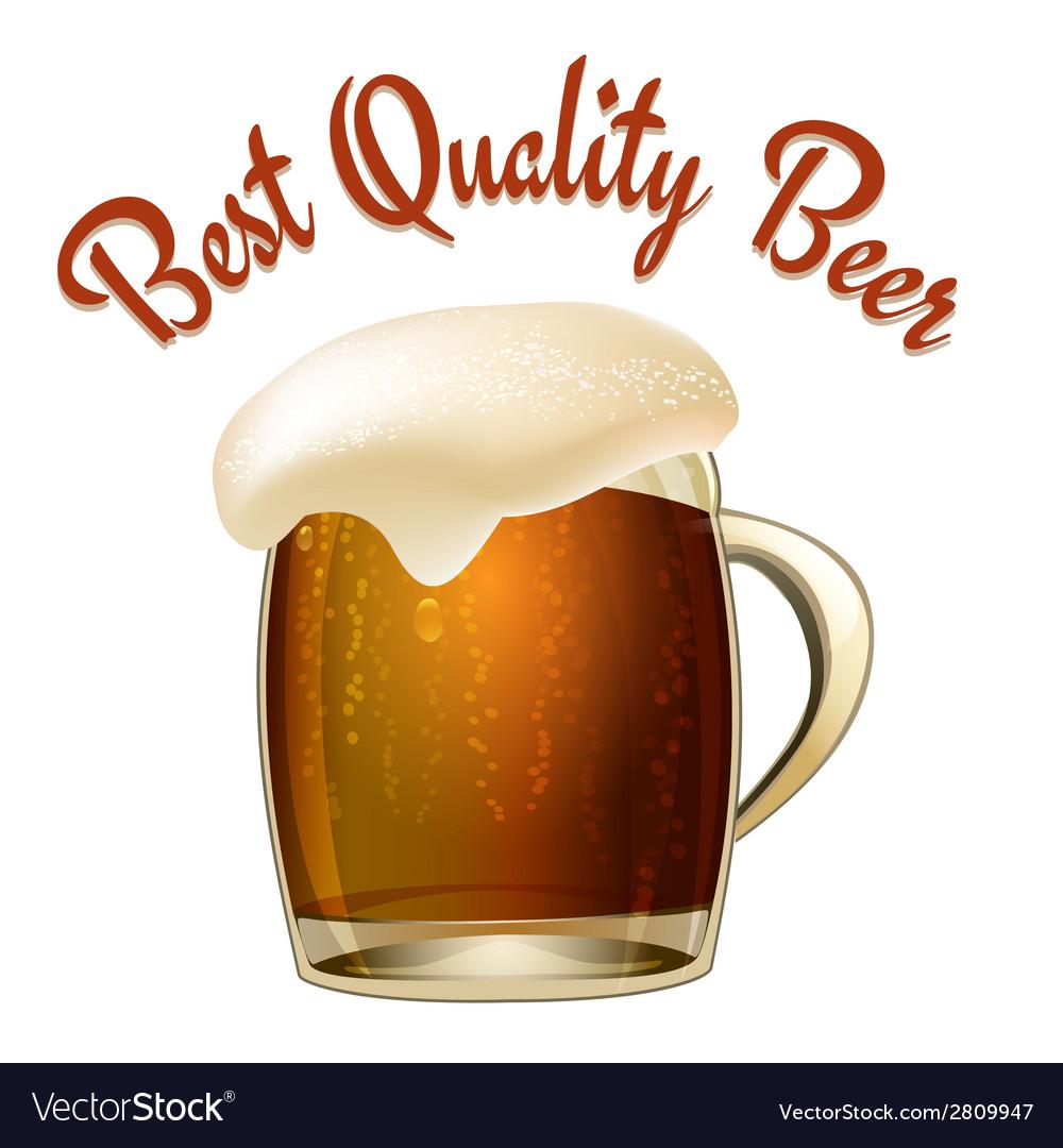 Best quality beer vector | Price: 1 Credit (USD $1)