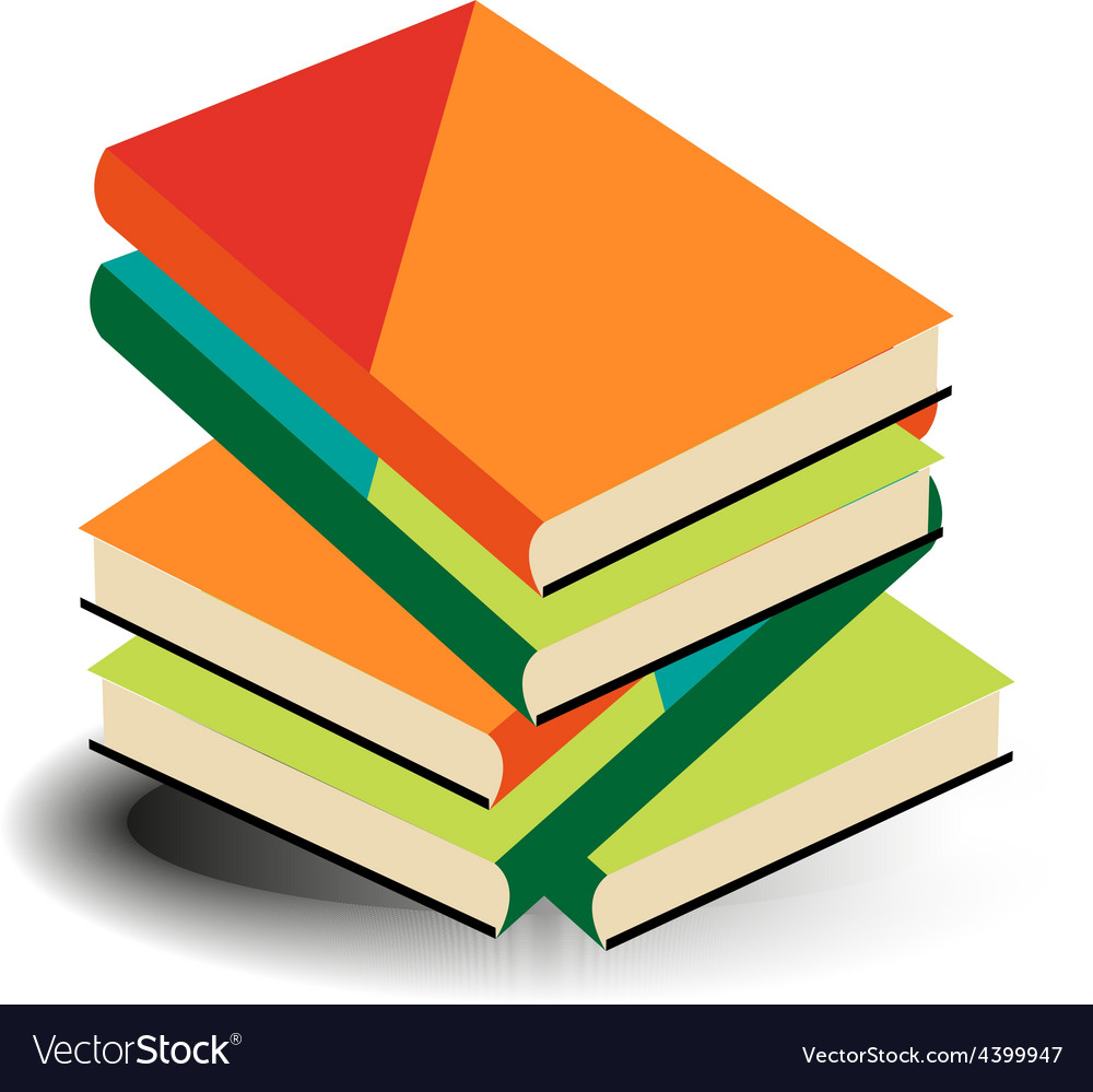 Books pile vector | Price: 3 Credit (USD $3)