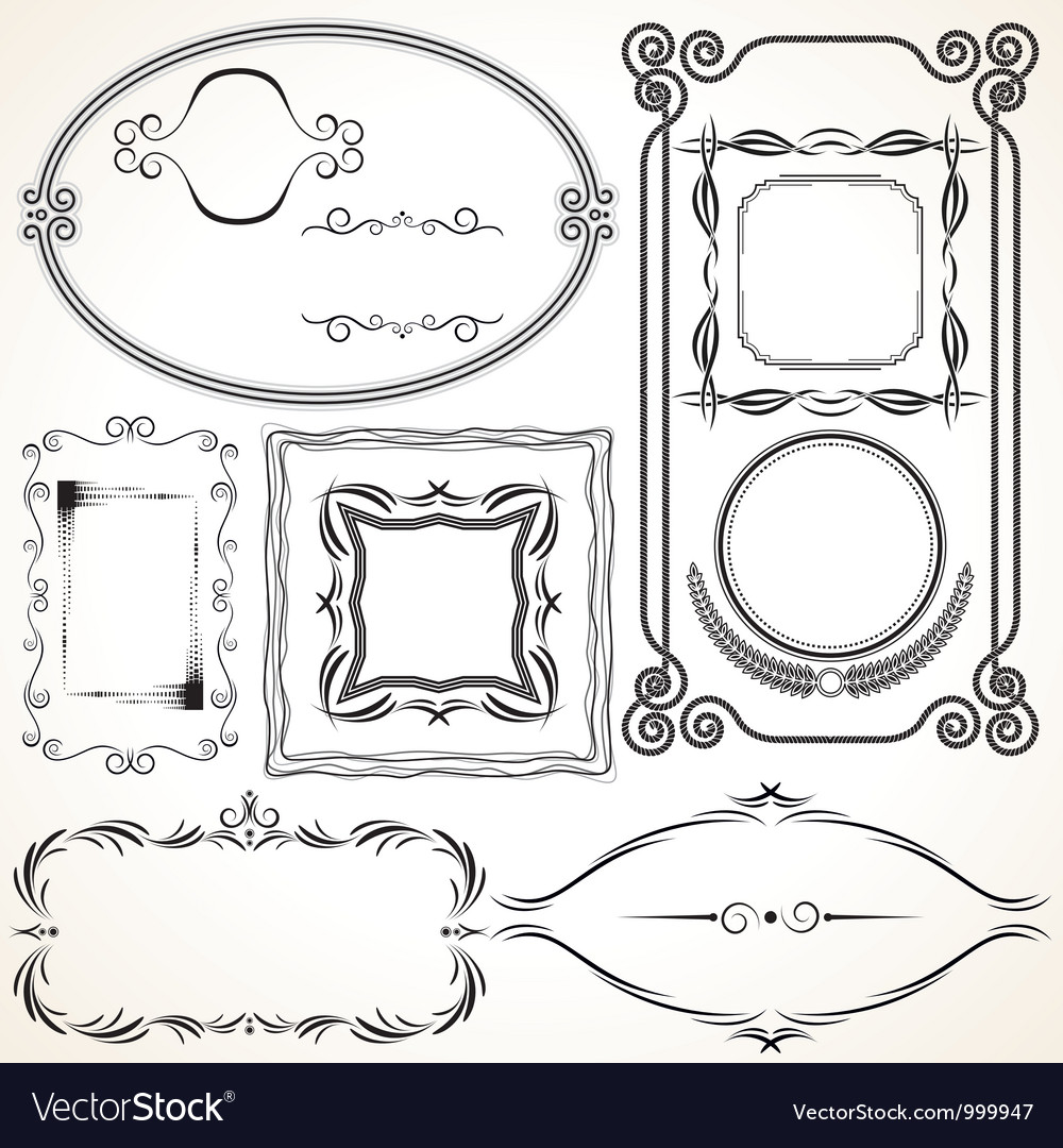 Design borders and frames vector | Price: 1 Credit (USD $1)
