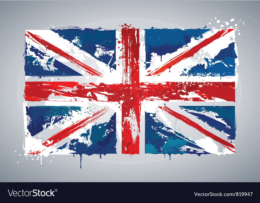 Grunge uk national flag vector | Price: 1 Credit (USD $1)