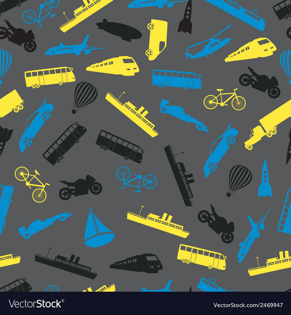 Means of transport colorful pattern eps10 vector | Price: 1 Credit (USD $1)