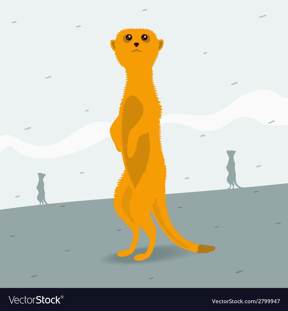 Meerkat looking for space vector | Price: 1 Credit (USD $1)