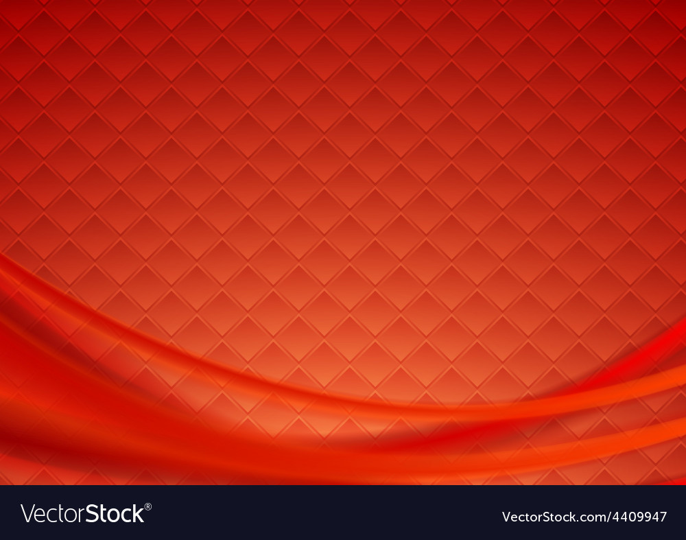 Red tech wavy background vector | Price: 1 Credit (USD $1)