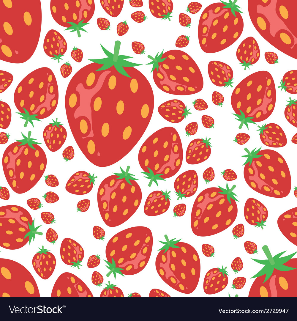 Strawberry seamless pattern vector   Price: 1 Credit (USD $1)