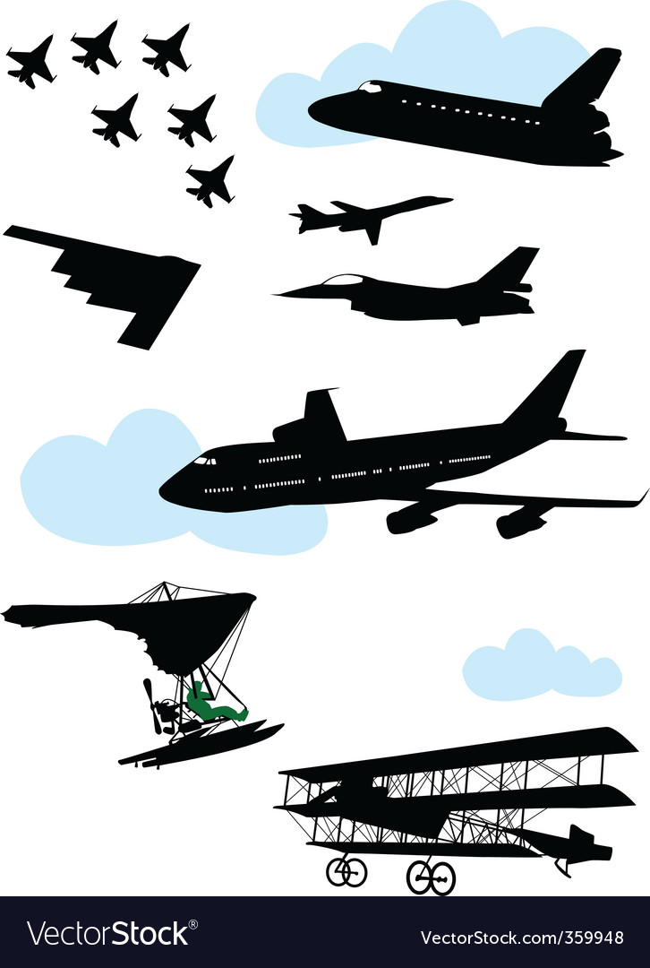 Airplane8 vector | Price: 1 Credit (USD $1)