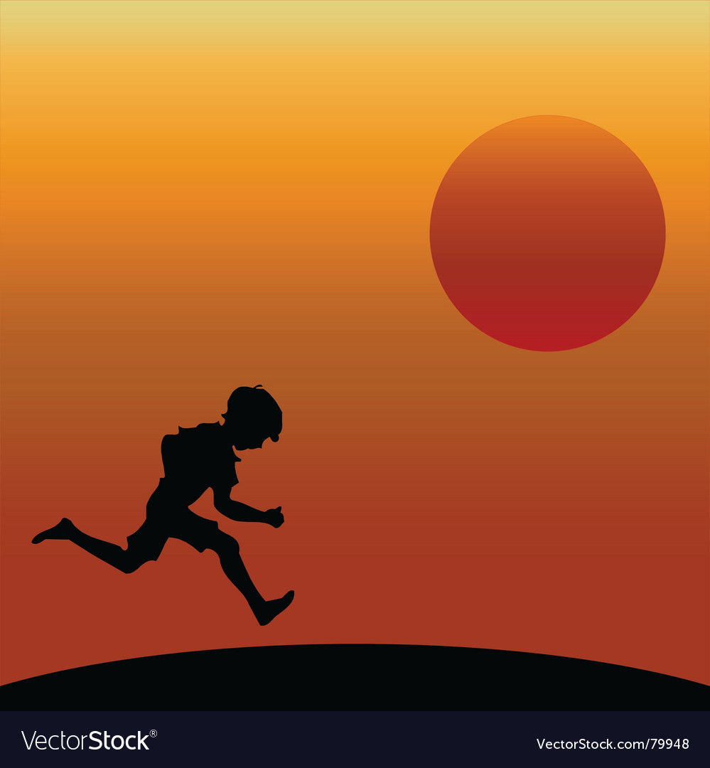 Boy running vector | Price: 1 Credit (USD $1)