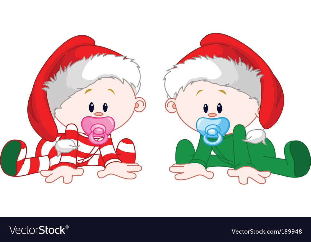 Christmas babies vector | Price: 3 Credit (USD $3)