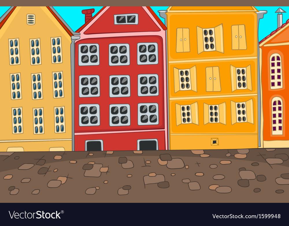 City cartoon vector | Price: 1 Credit (USD $1)