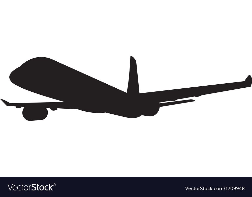 Commercial jet plane airline silhouette vector | Price: 1 Credit (USD $1)