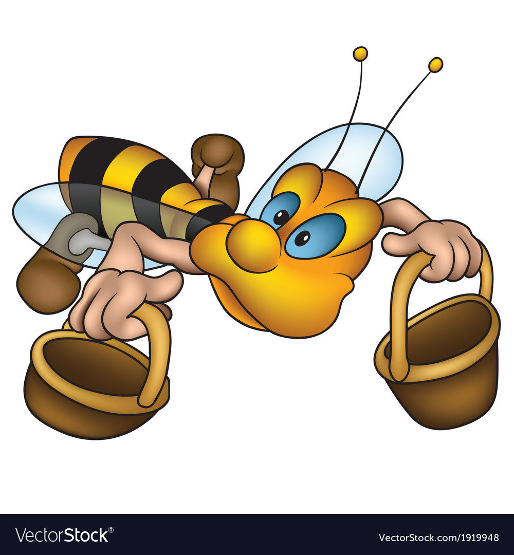 Flying little bee vector | Price: 1 Credit (USD $1)