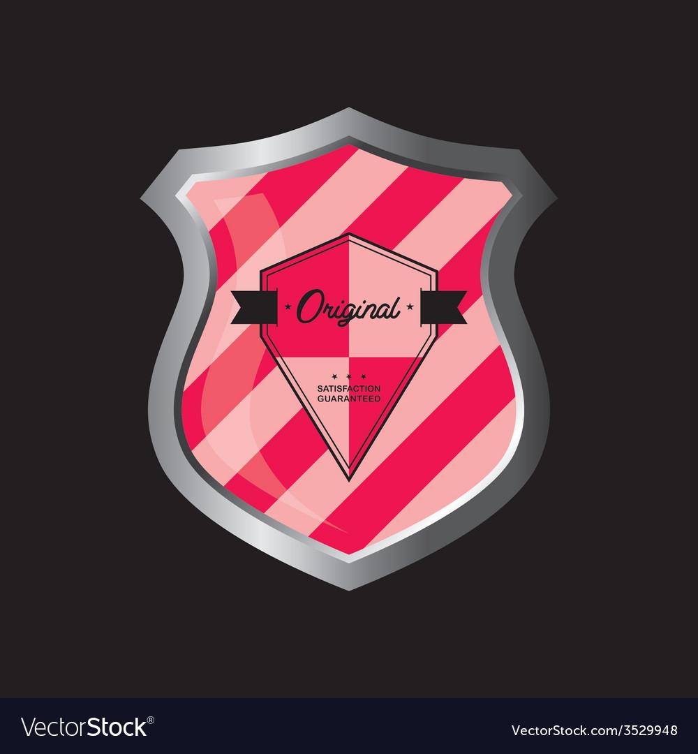 Insignia shield product label art vector | Price: 1 Credit (USD $1)