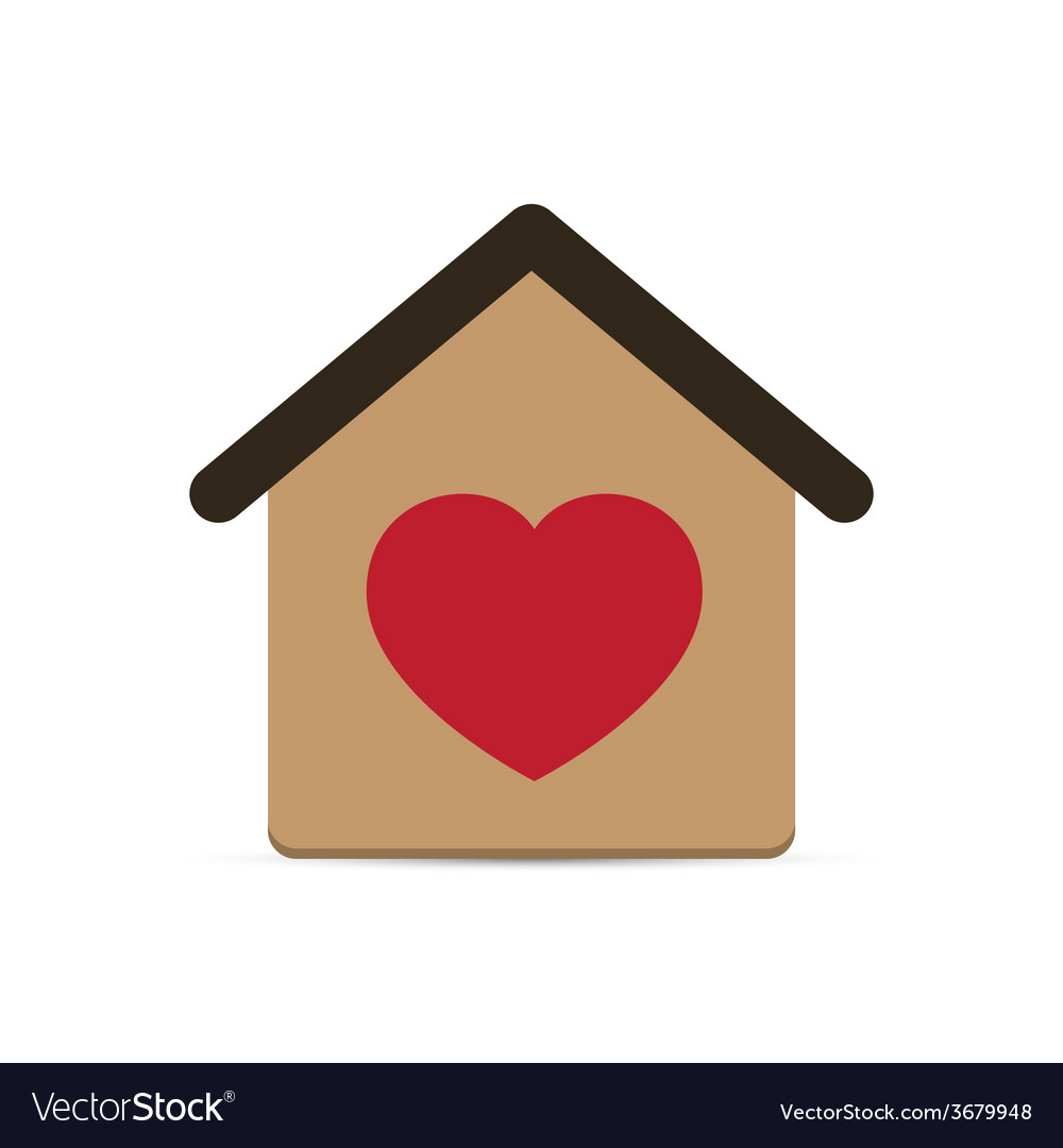 Love heart house vector | Price: 1 Credit (USD $1)
