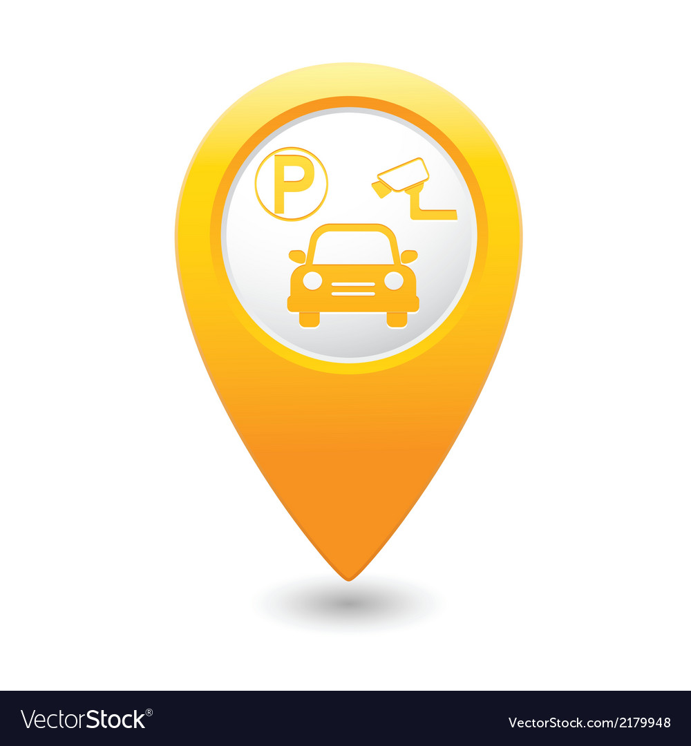 Parking place yellow map pointer vector | Price: 1 Credit (USD $1)