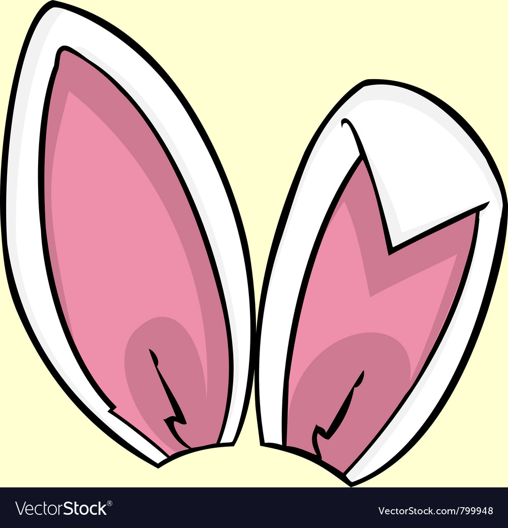 Pink bunny ears vector | Price: 1 Credit (USD $1)