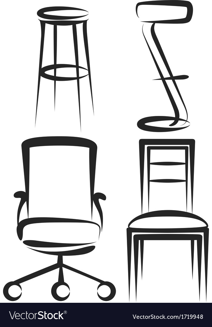 Set of chairs vector | Price: 1 Credit (USD $1)