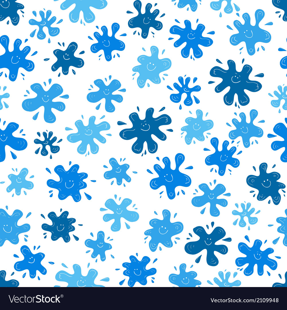 Smiling ink blots seamless pattern vector | Price: 1 Credit (USD $1)