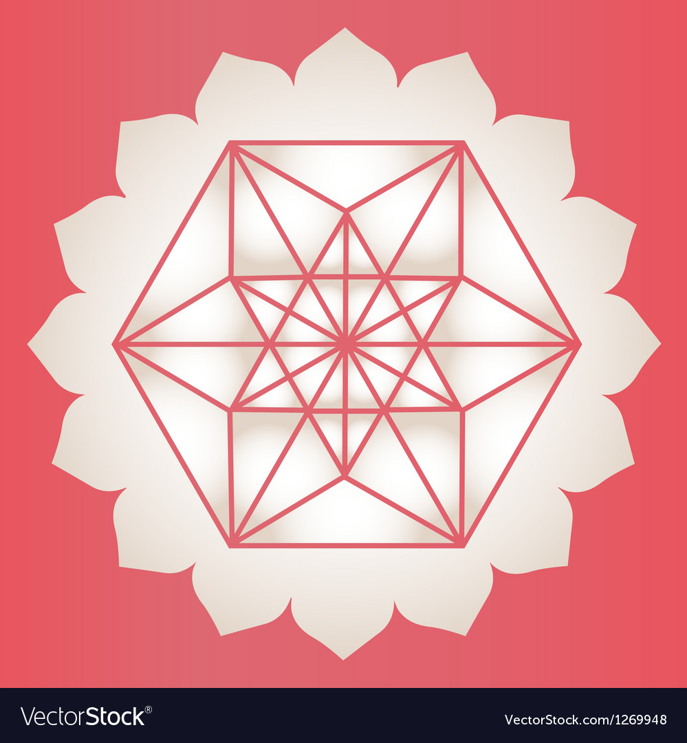 Star tetrahedron stamp vector