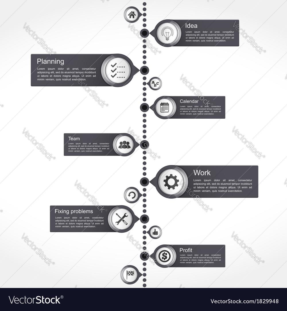 Timeline design template vector | Price: 1 Credit (USD $1)