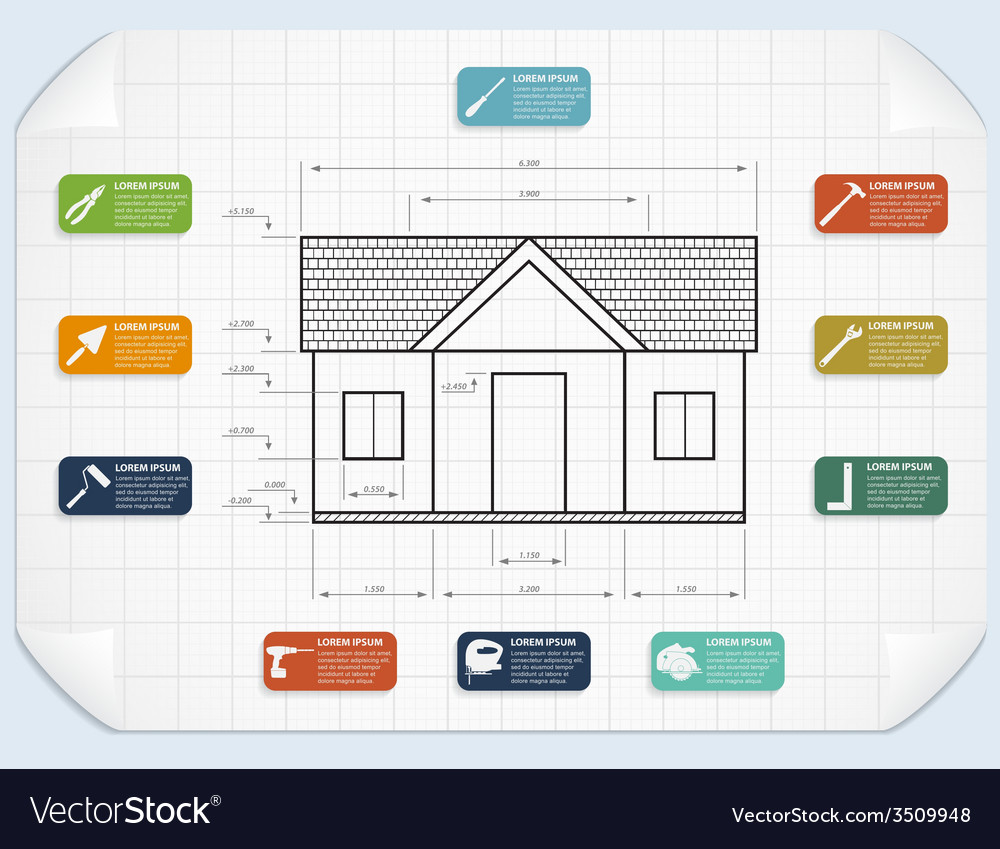 Tools infographic vector | Price: 1 Credit (USD $1)