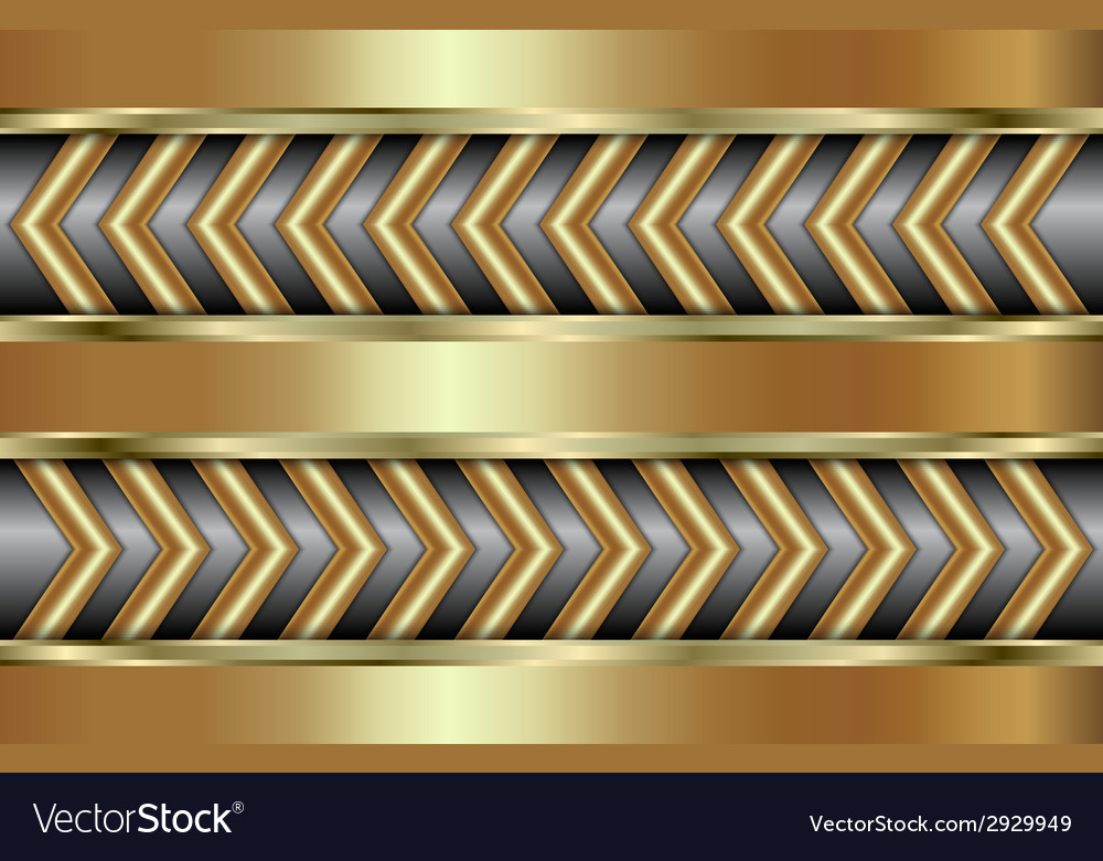 Abstract golden background with zigzag in tabloid vector | Price: 1 Credit (USD $1)