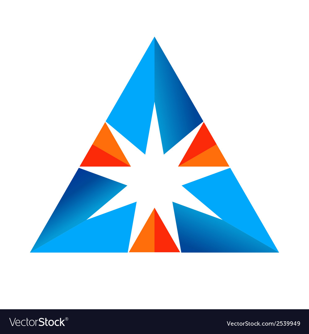 Abstract triangular sign vector | Price: 1 Credit (USD $1)