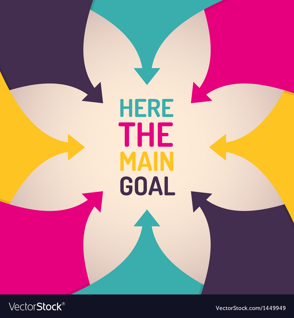 Background with arrows and place for main goal vector | Price: 1 Credit (USD $1)