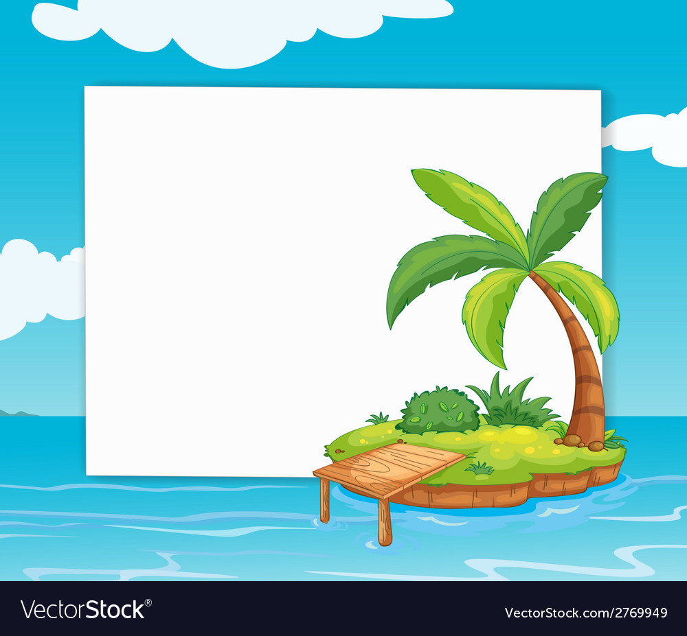 Banner with island vector | Price: 1 Credit (USD $1)