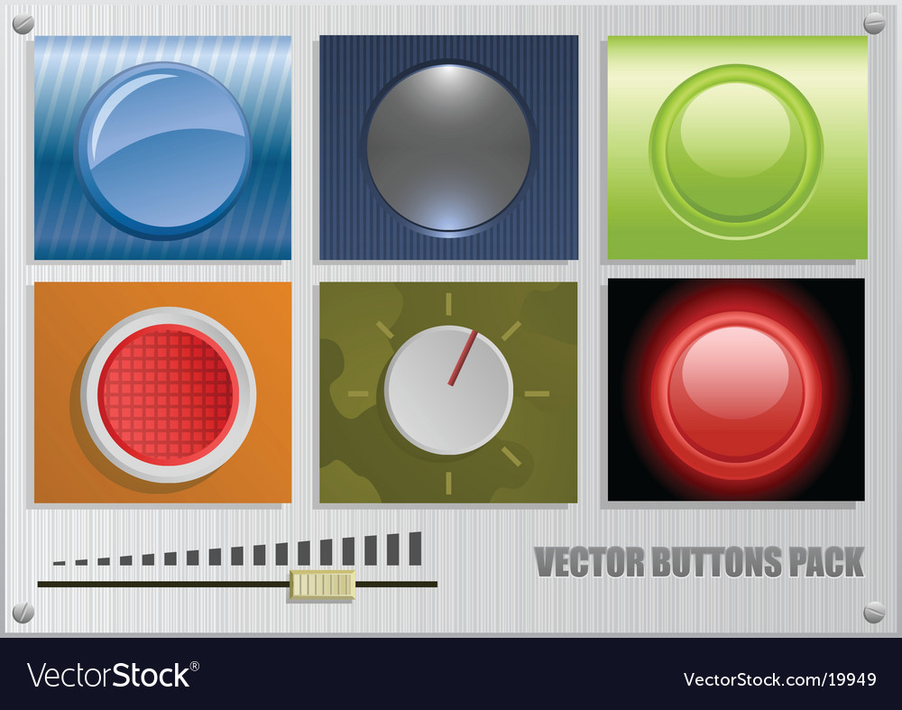 Buttons pack vector
