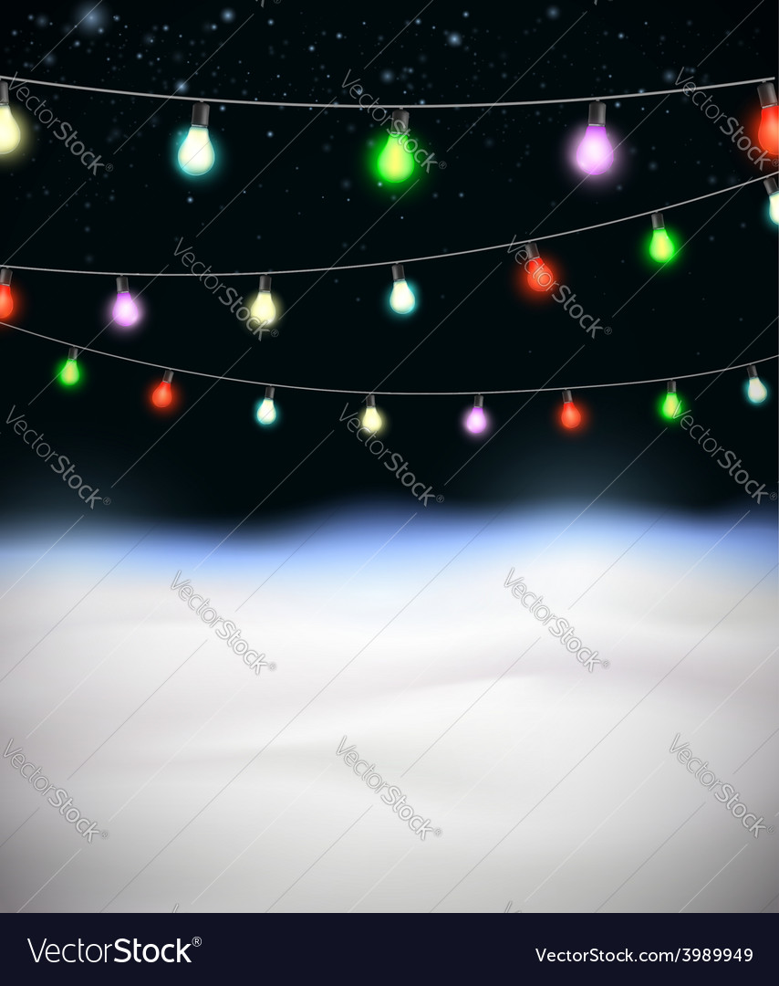 Festive garlands of colored lights vector | Price: 1 Credit (USD $1)