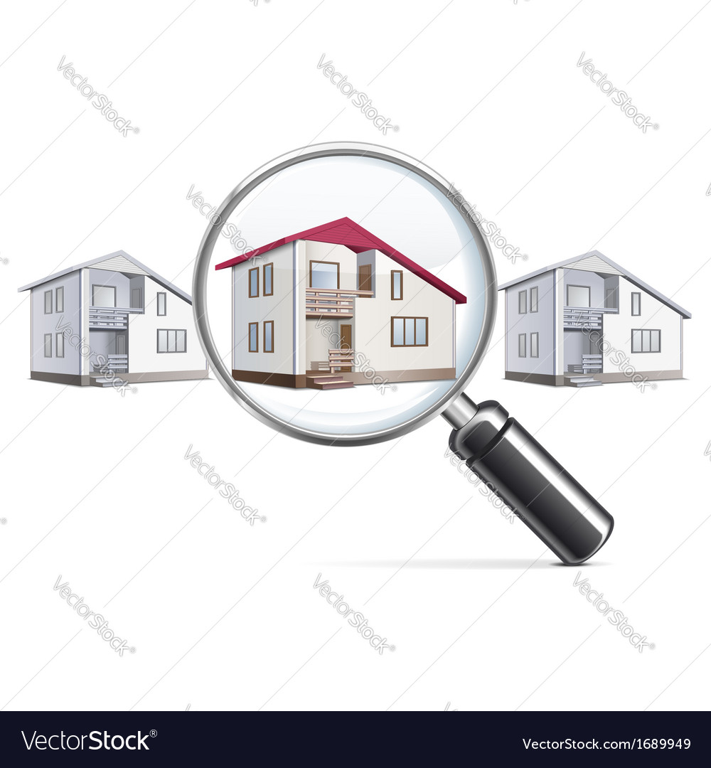 House with lens vector | Price: 1 Credit (USD $1)