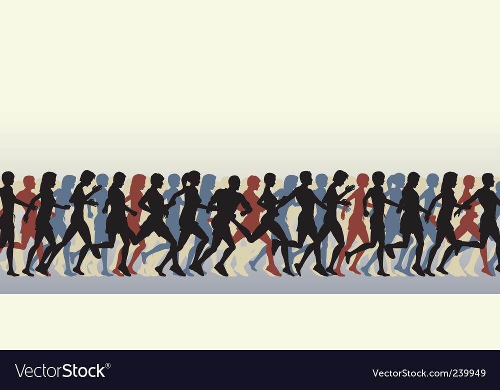 Mass runners vector | Price: 1 Credit (USD $1)