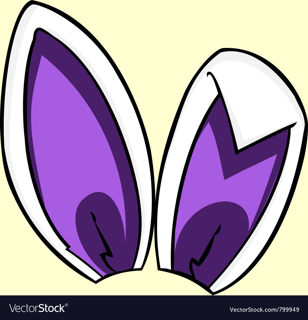 Purple bunny ears vector | Price: 1 Credit (USD $1)