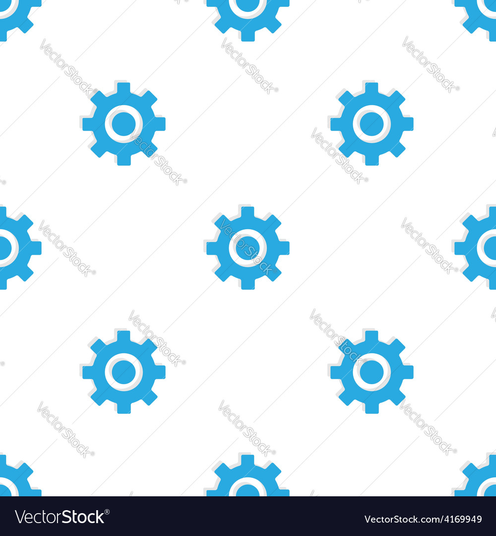 Seamless pattern with blue gears vector | Price: 1 Credit (USD $1)